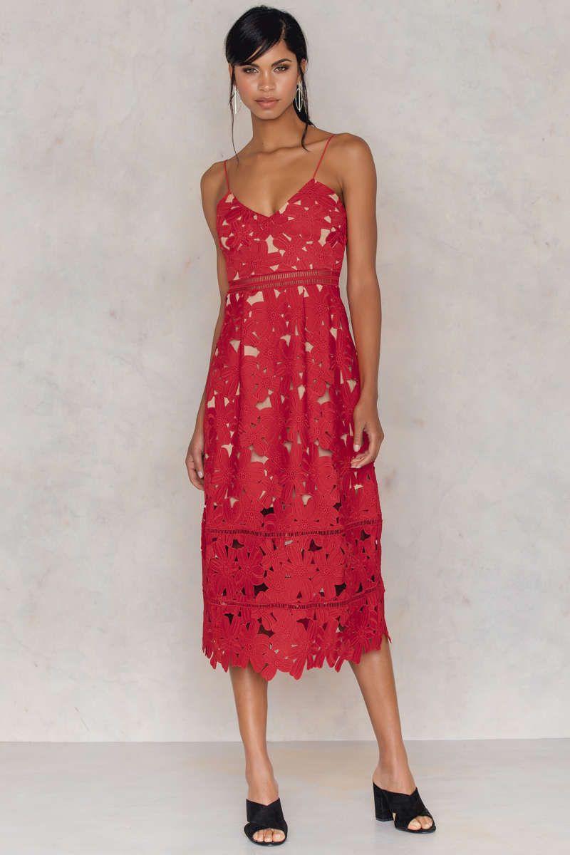 Floral Crochet Midi Dress Crochet Midi Dress Red Midi Dress Dresses