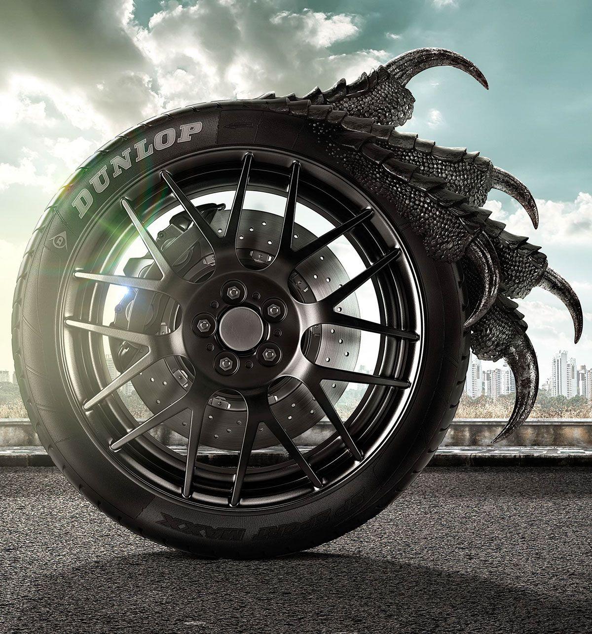 Dunlop On Behance Dunlop Car Tire [ 1286 x 1200 Pixel ]