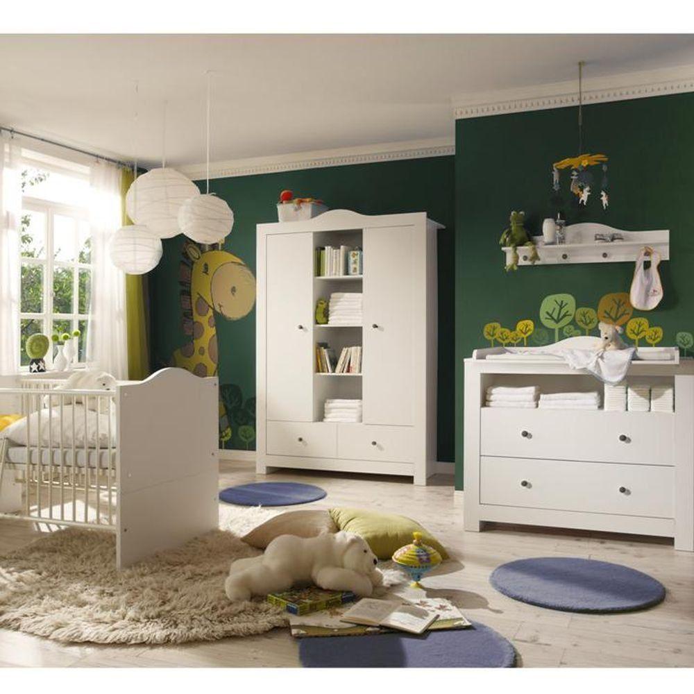 Babyzimmer Komplett Set in weiß: 1 x Kleiderschrank ( 2 trg ...