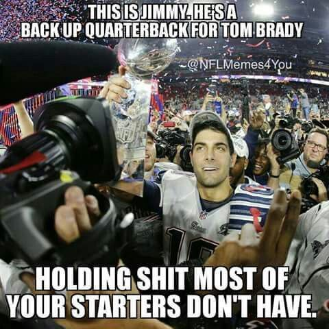 We believe in Jimmy G