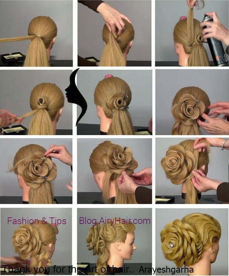 Hairstyles Step By Step step by step hairstyles screenshot Step By Step Amazing Flower Blossom Hairstyle Tutorial