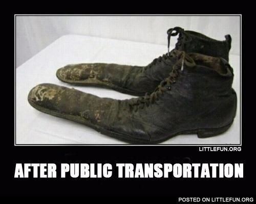 After public transportation.