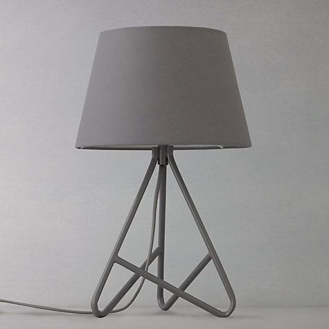 John Lewis Amp Partners Albus Twisted Table Lamp Black Copper Table Lamp Tripod Lamp Home Decor