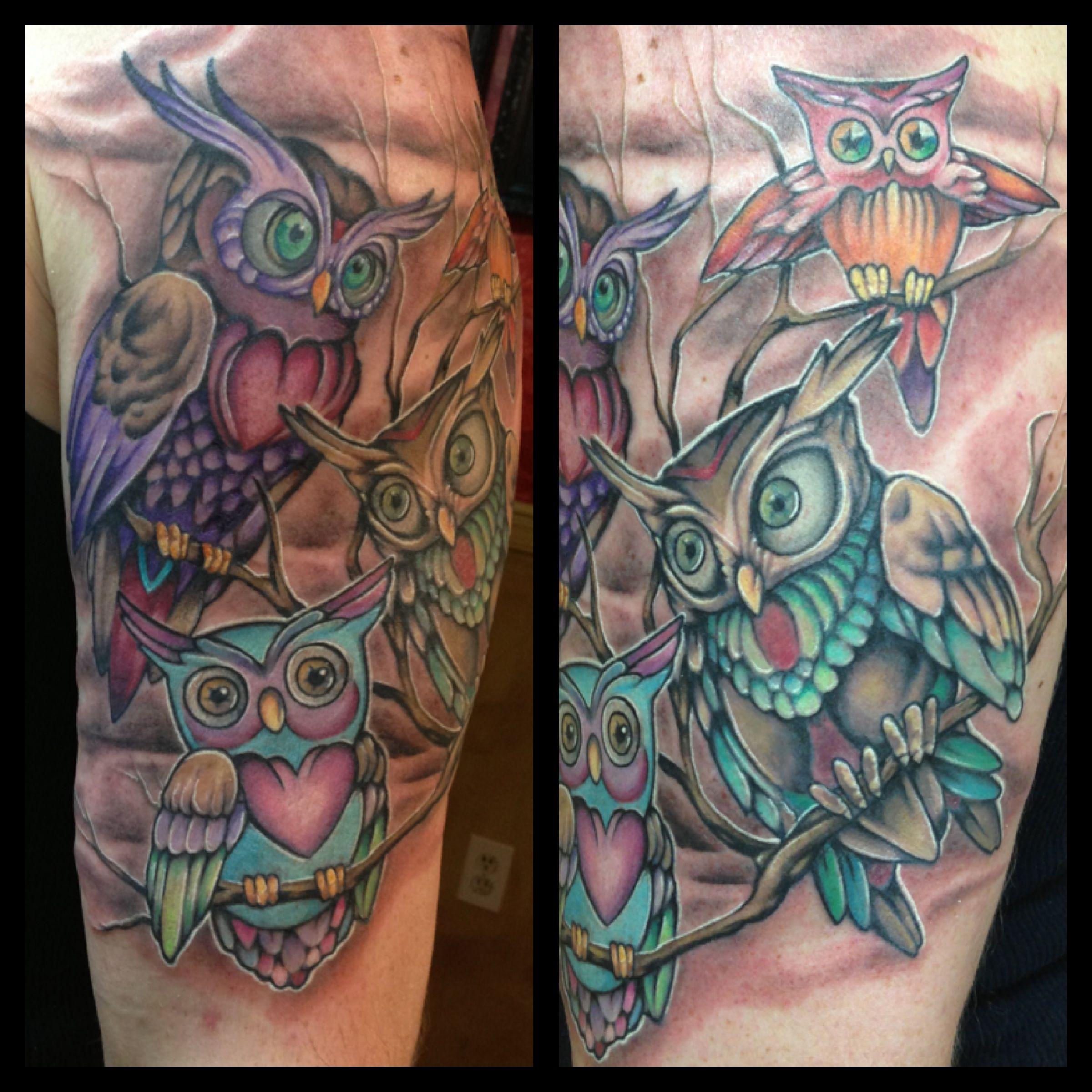 Owl tattoo Family tattoos, Owl family, Tattoos