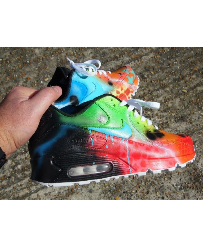 best service 0f600 d0e03 Nike Air Max 90 Candy Melt Custom Galaxy Green Red Black Sale outlet804