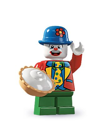 Small Clown haha with his own comedy pie :))