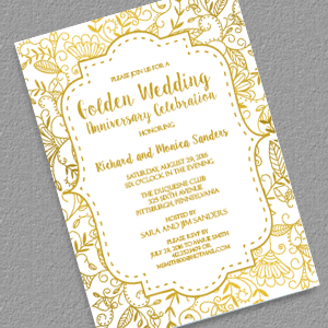 Golden wedding anniversary invitation template free the best of all golden wedding anniversary invitation template free the best of all stopboris Image collections