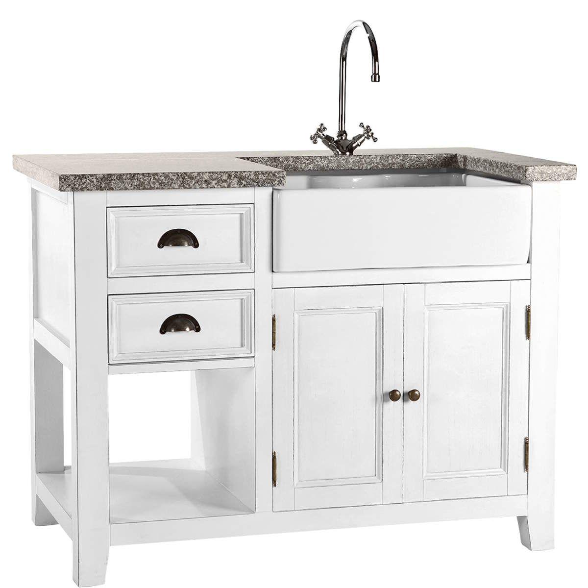 Maple hill spültisch weiß küchenmöbel butlers 699€