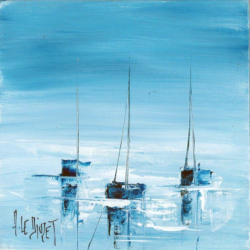 3 voiliers bleus en 2020 | Peinture bateau,