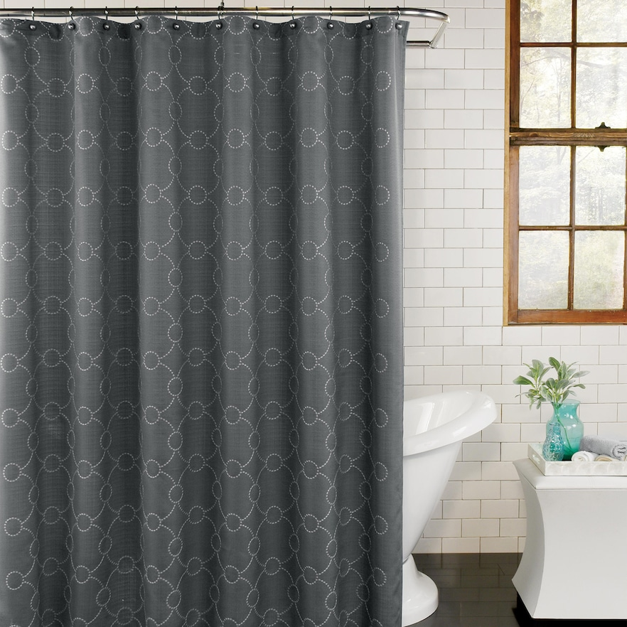 Excell Skylar Fabric Shower Curtain Fabric Shower Curtains