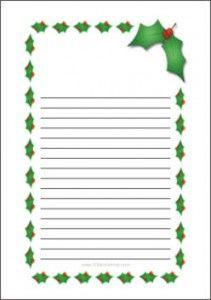 Printable Christmas Writing Paper Border Frame