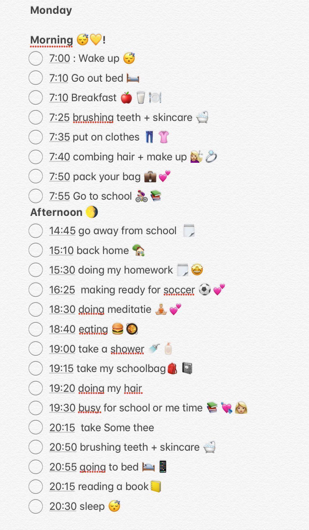 - beauty routine checklist