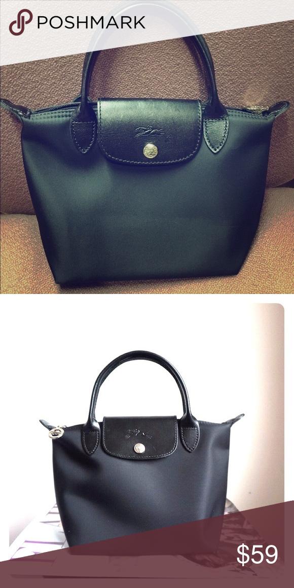 8fed564944 longchamp mini le planetes pliage black tote bag Great condition,  authentic! Longchamp Bags