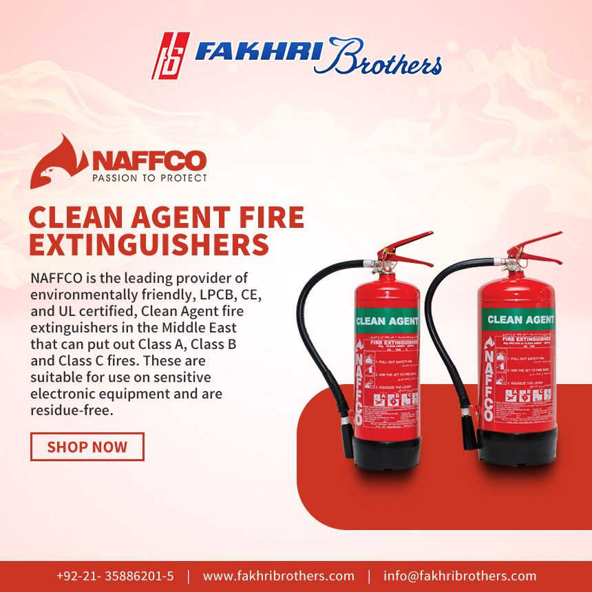 Clean agent fire extinguishers are suitable for use on