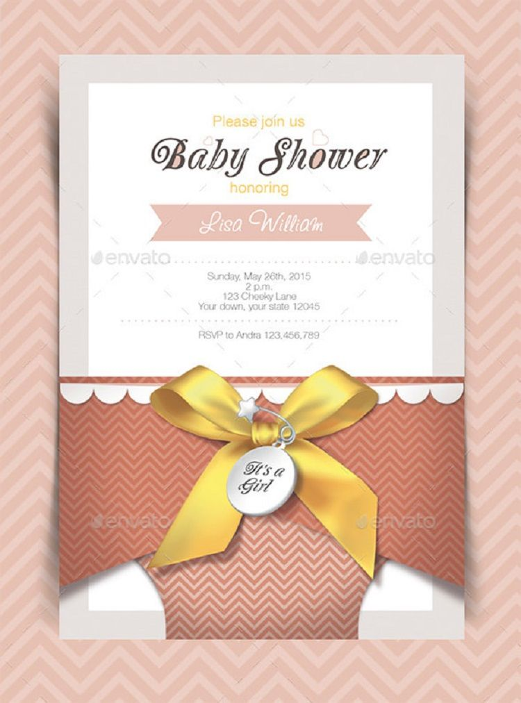 Baby Shower Invitation Card Design Templates Party Ideas Resume
