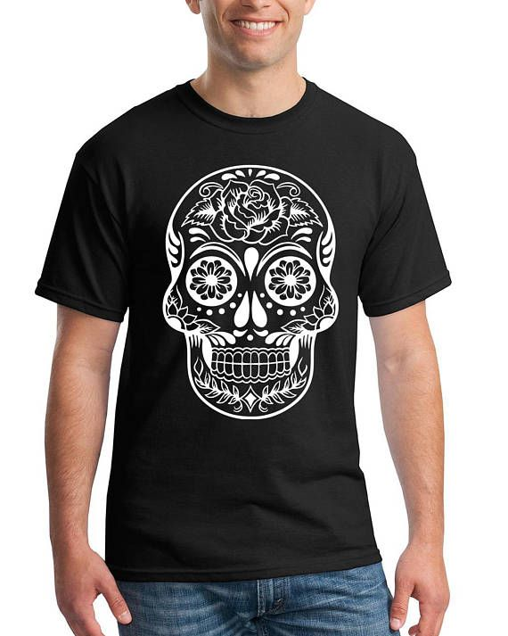 530b8683 Sugar Skull shirt, Dia De Los Muertos shirts, Day Of The Dead Mens ...