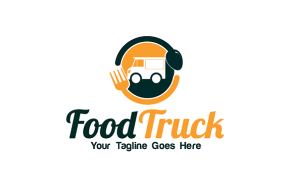 Food Truck Logo Template Graphic By Redvy Creative Creative Fabrica Logo Templates Logo Design Logos