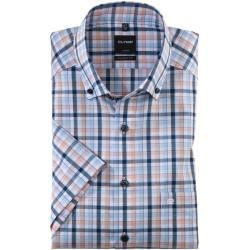 Photo of Olymp Luxor short-sleeved shirt, modern fit, button-down, mandarin, 38 Olymp