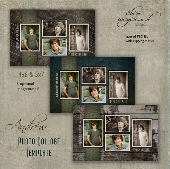 Senior Photo Collage Graduation Template For High School Seniors