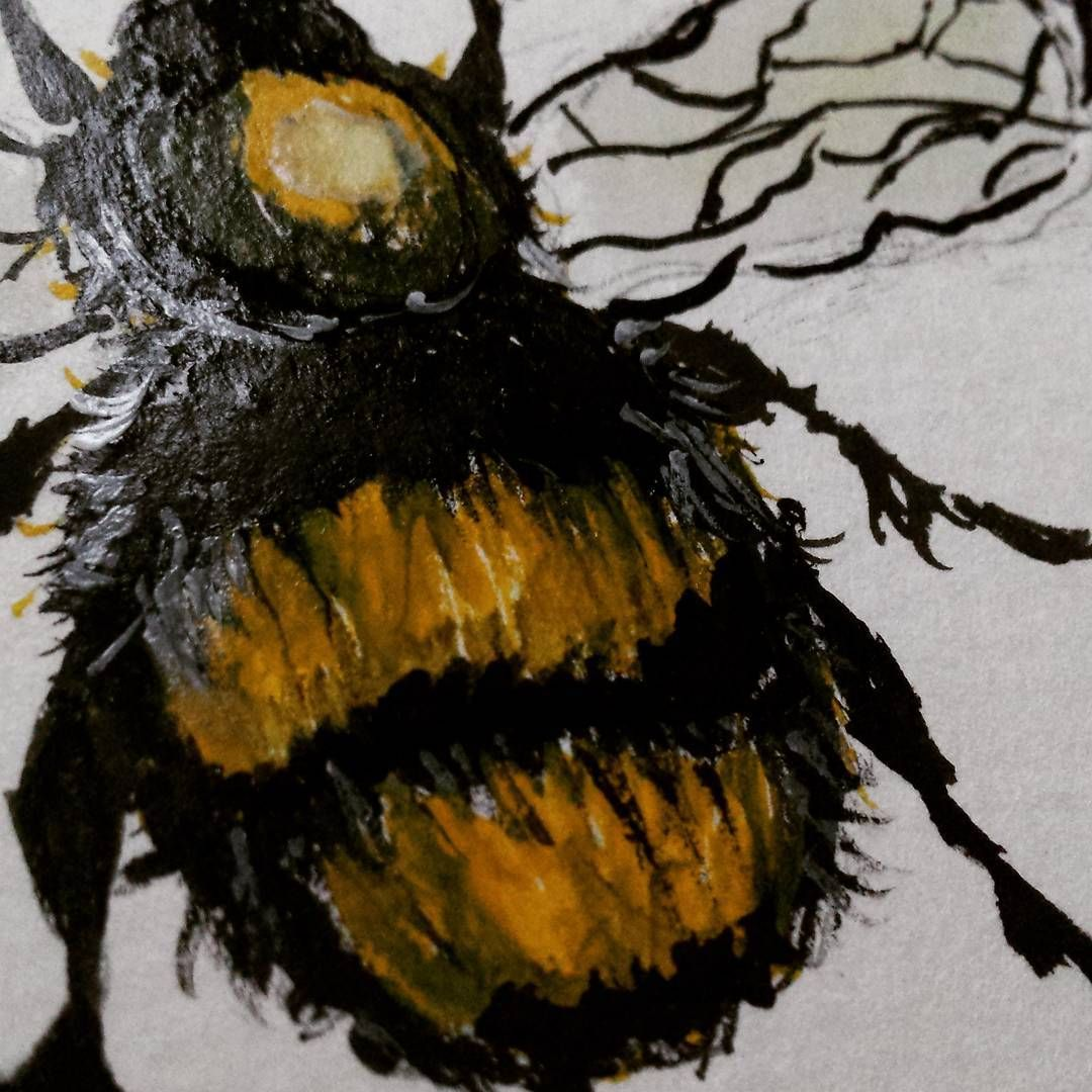 Been painting some bumblebees bums today!