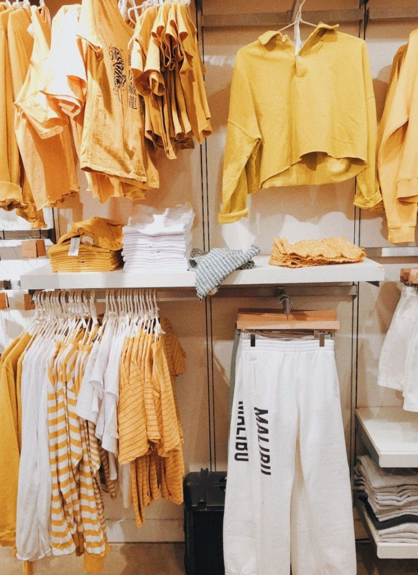 vsco  vscovibess  kuning pakaian kasual pakaian