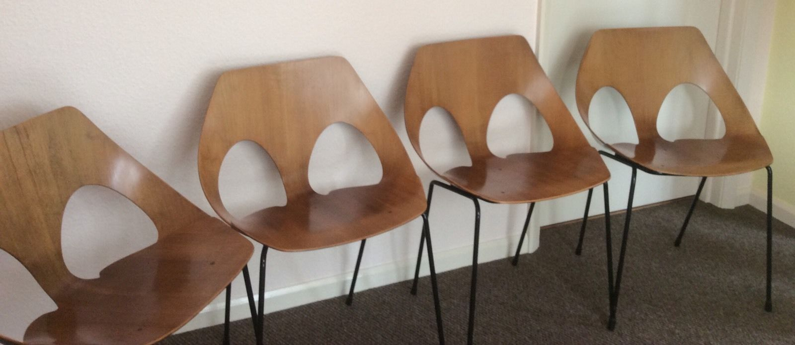 SET OF FOUR vintage Kandya jason chairs by Carl Jacobs and Frank Guille   eBay