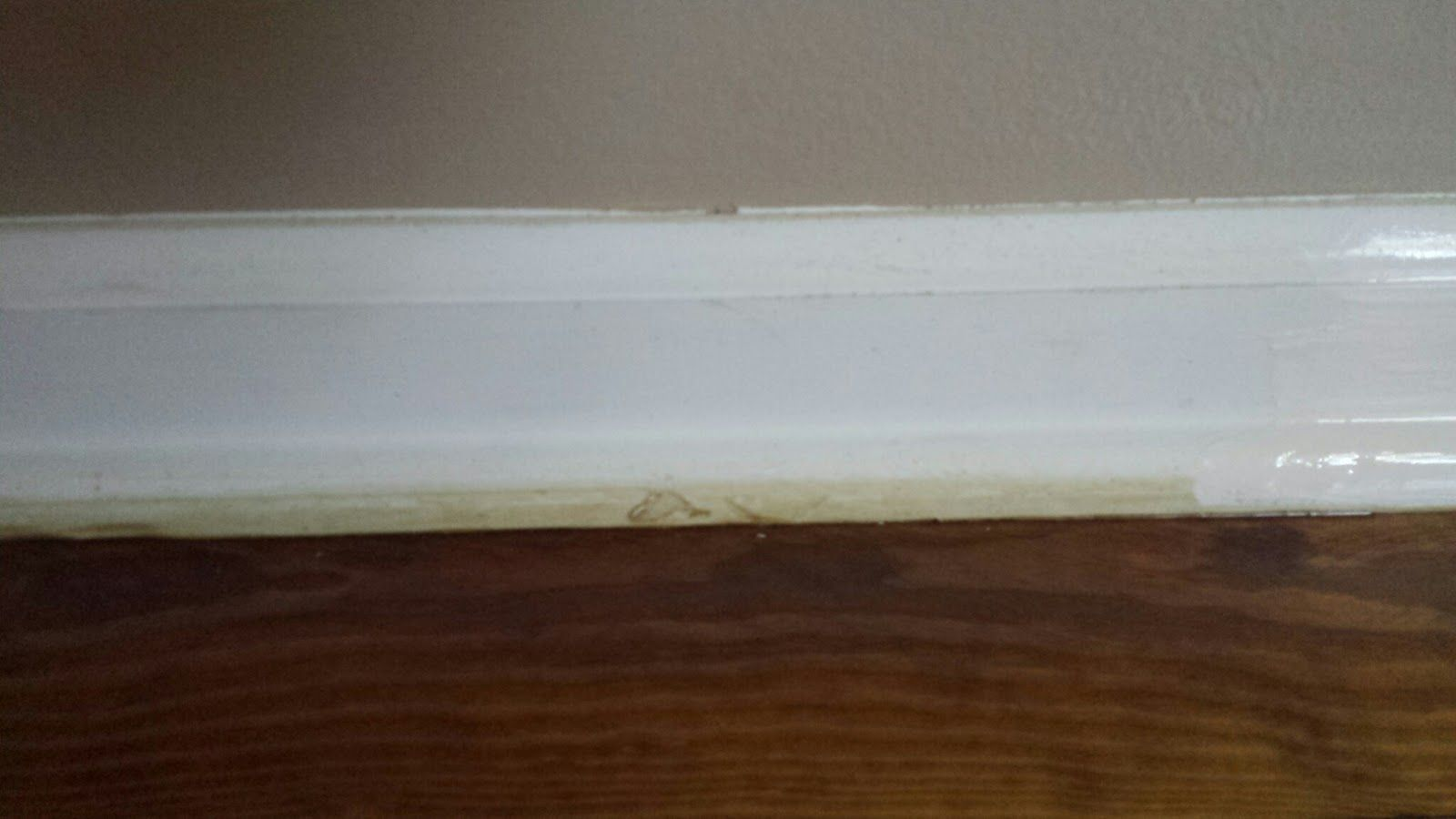 """Tip for painting those baseboards easily without having to """"tape"""""""