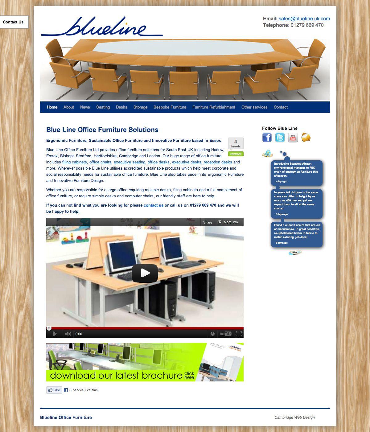 Blueline Office Furniture Website
