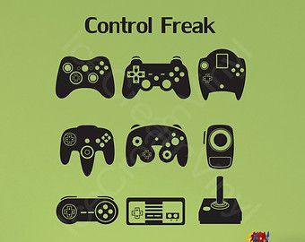 video game controllers vinyl wall decal teen room boy and girl