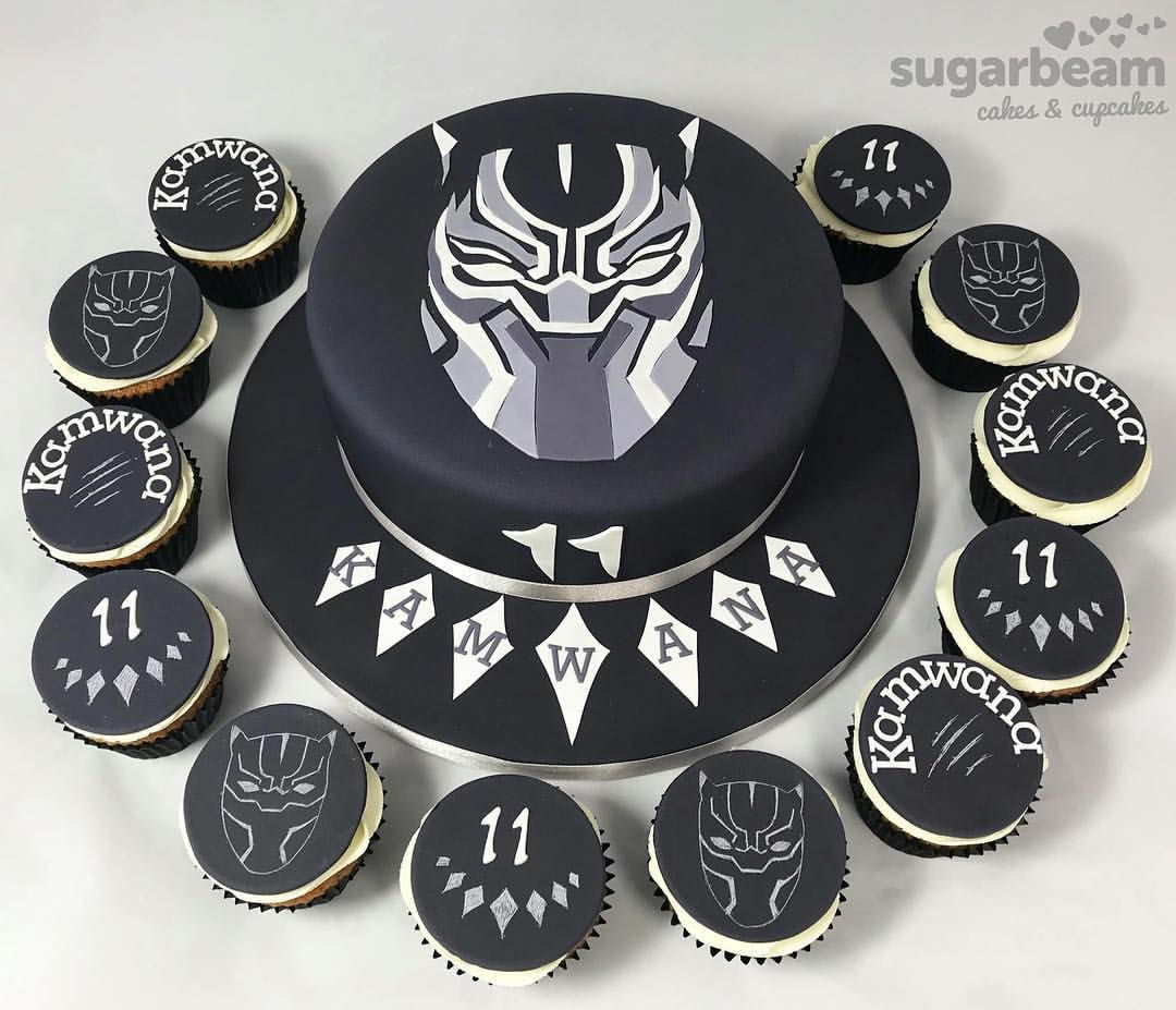 Black Panther 11th Birthday Cake Cupcakes Blackpanther