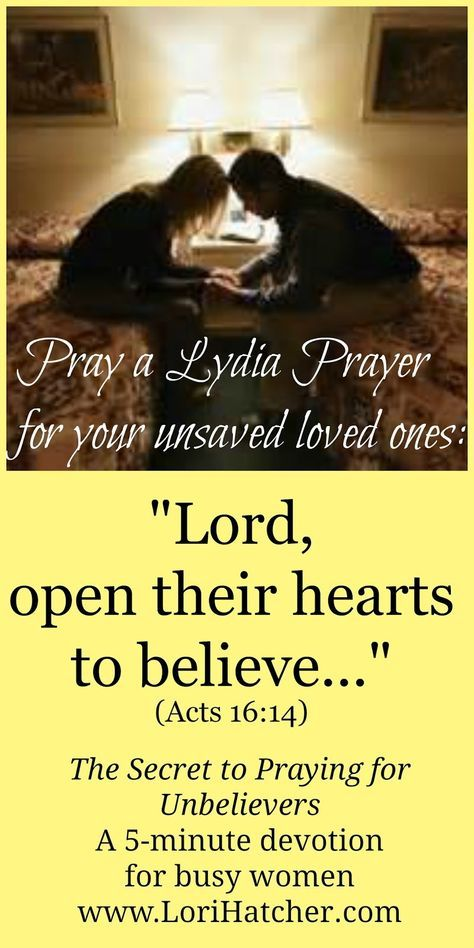 The Secret of Praying for Unbelievers | Prayer | Bible