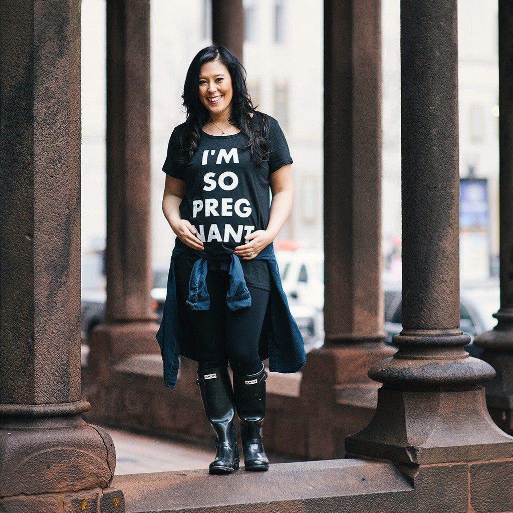 I'm So Pregnant (Adult) Womens Maternity T-Shirt - Hello Apparel - Hello Merch