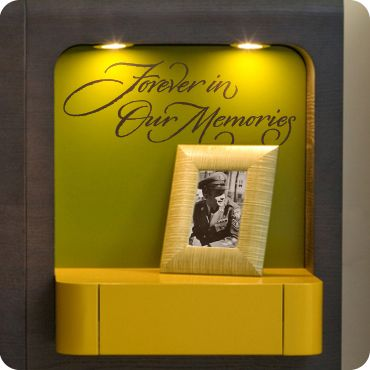 Forever in Our Memories | Memory wall, Wall decals and Walls