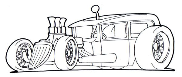 Rat Rod Cars Coloring Pages Cars Coloring Pages Cool Car Drawings Car Drawings