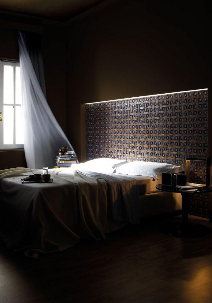 Patterned Niche Headboard Bedroom Chambre Mode D 233 Cor De