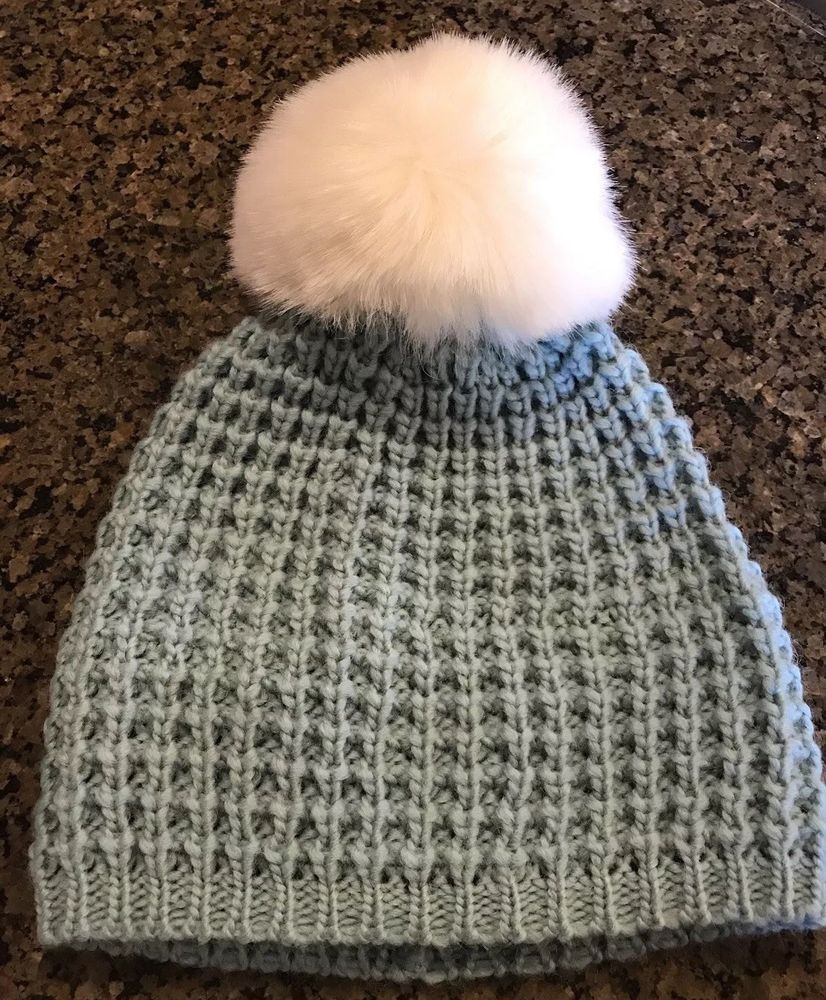 47b8b23cfd0a4 New KYI KYI Pompom Wool Blend Beanie Mint Green and White  fashion   clothing  shoes  accessories  womensaccessories  hats (ebay link)