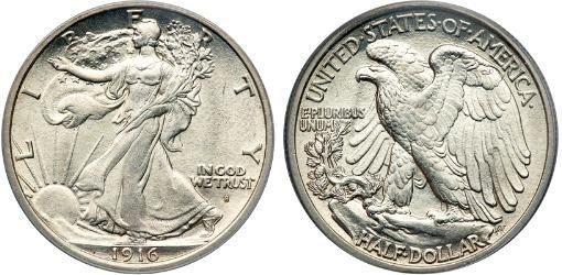 1916 Silver Eagle Half Dollar