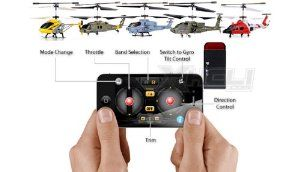 syma icopter remote control helicopter adapter by helizone rc  $16 94  plug  in phone jack, install syma helicopter app in app store and play!