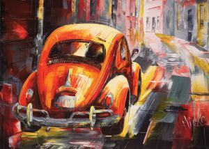 Puzzle Painting Art Cars Art