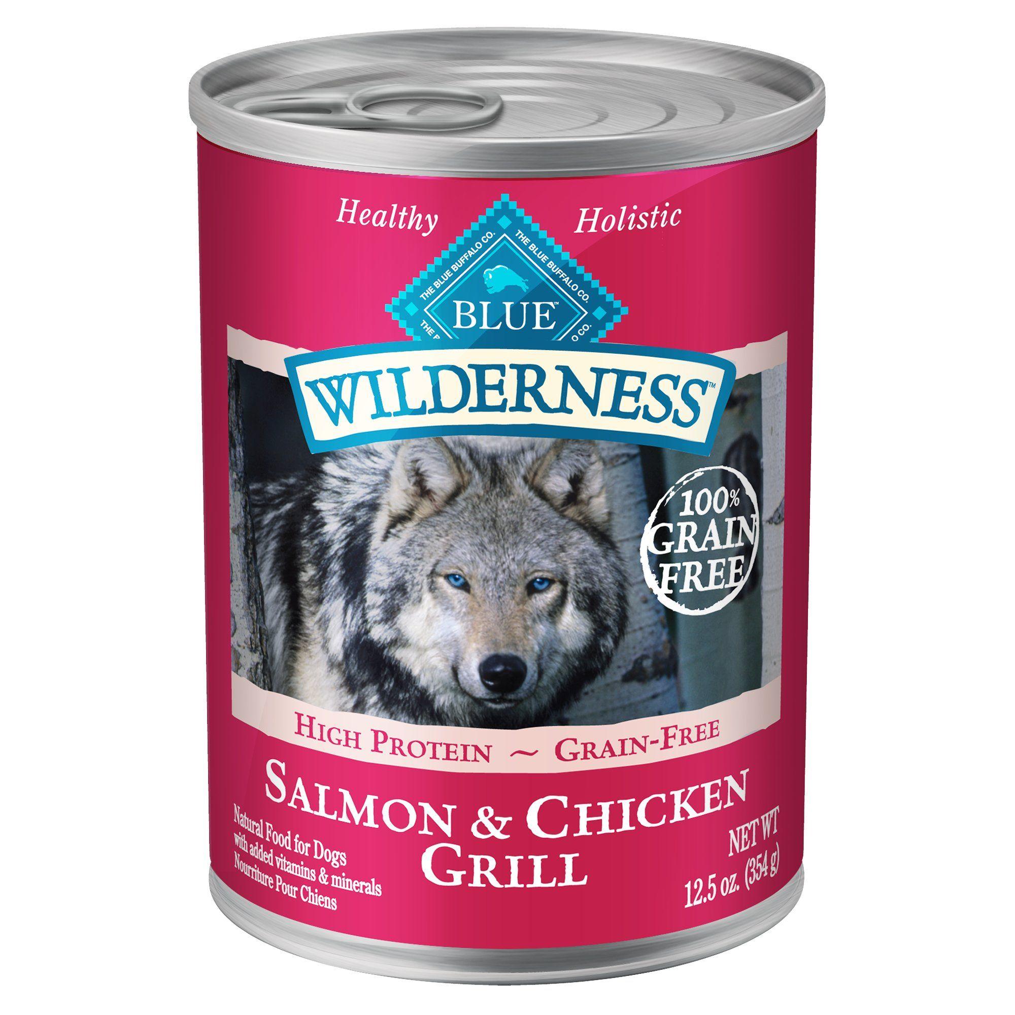 Blue Buffalo Blue Wilderness Salmon Chicken Grill Wet Dog Food