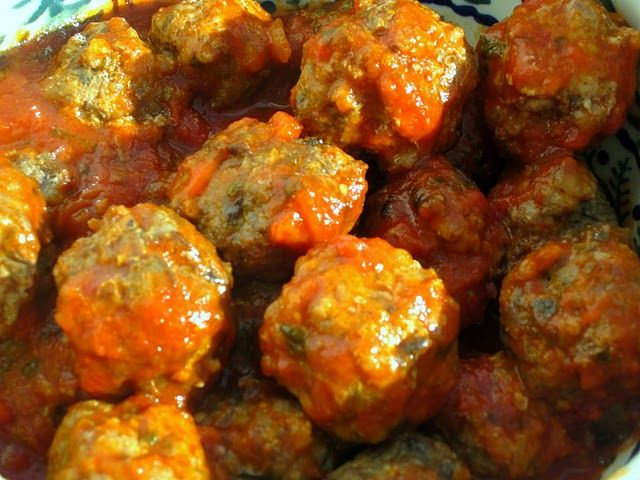 Baked Beef and Portabello Meatballs
