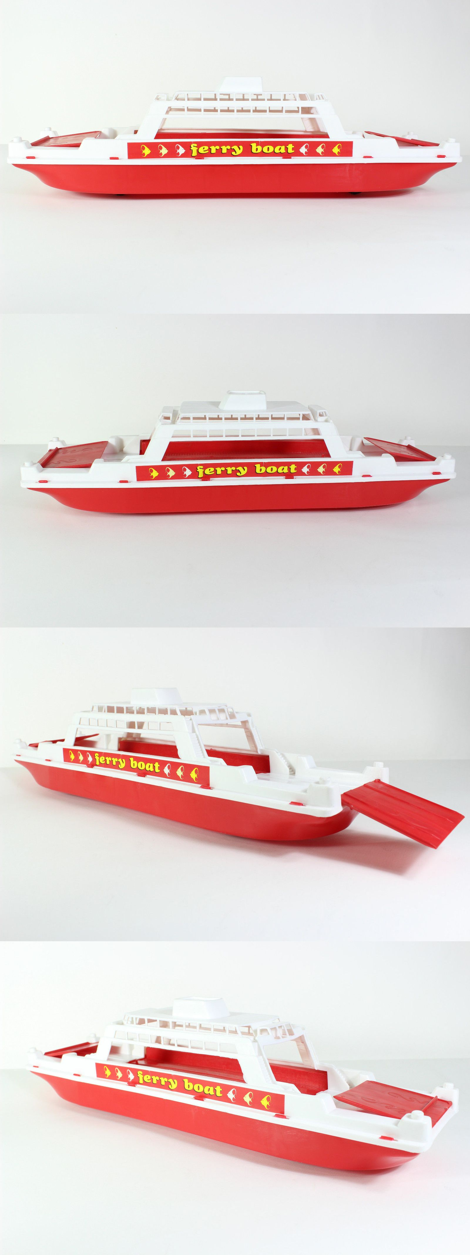 Vintage Manufacture Apergis Ferry Boat Ship 90 S Rare Toy