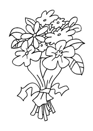 Blumenstrauss 47 zum Ausmalen #Ausmalbilder #