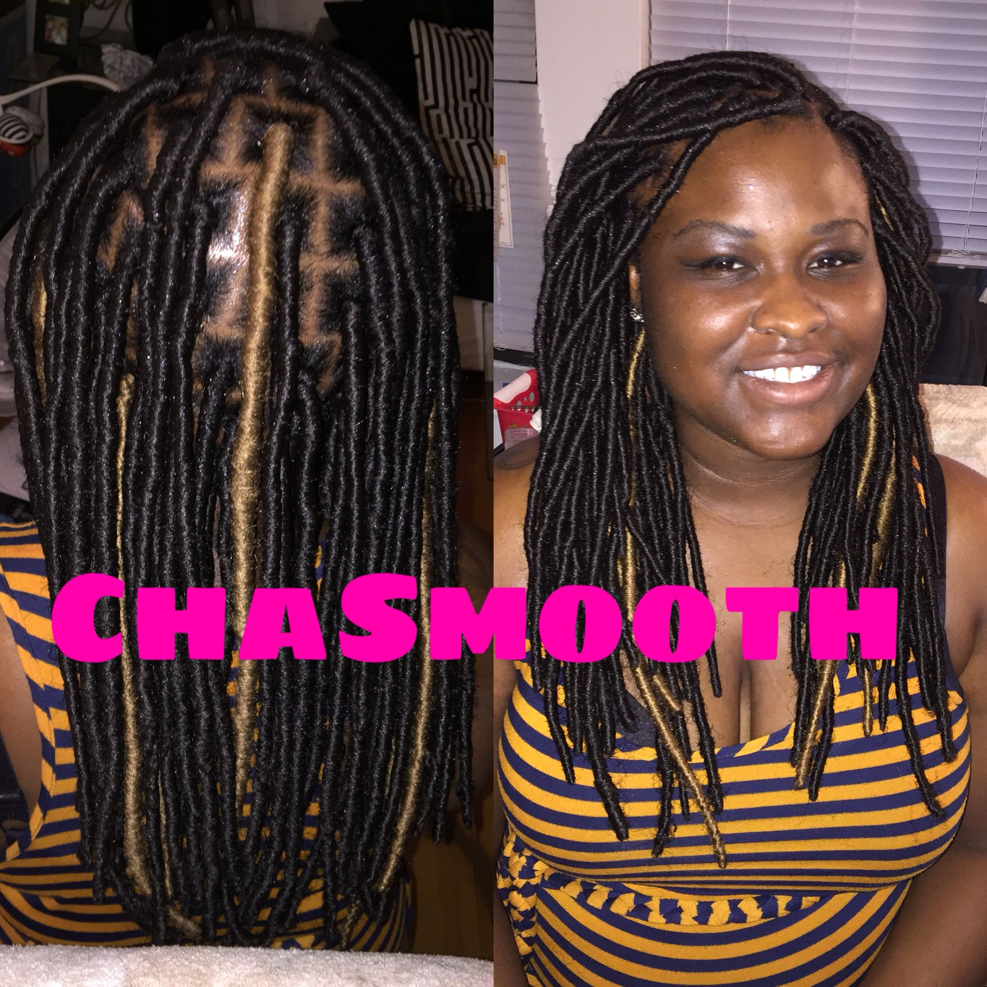 Fauxlocs Chicago faux locs yarn wraps chacha smooth hair