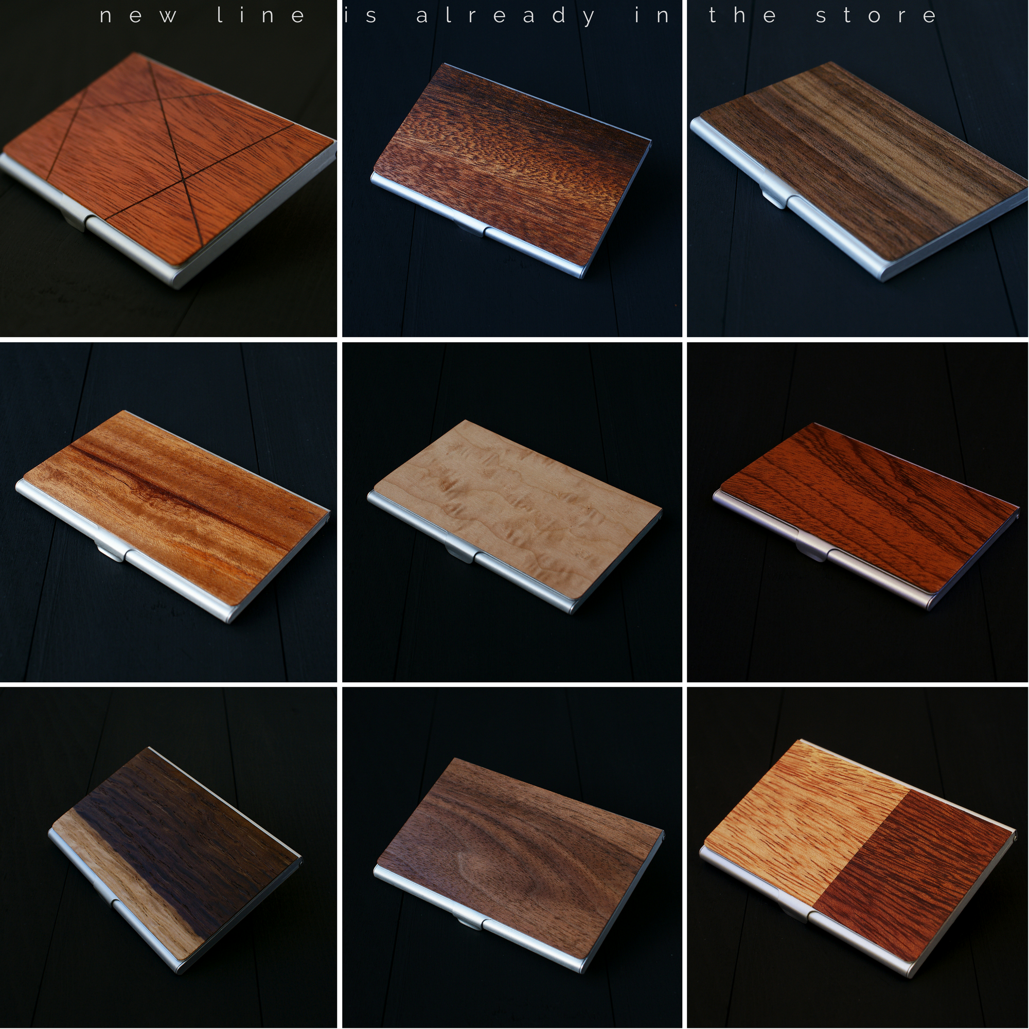 Handcrafted #wood #wallets #cardholder made from natural wood and ...