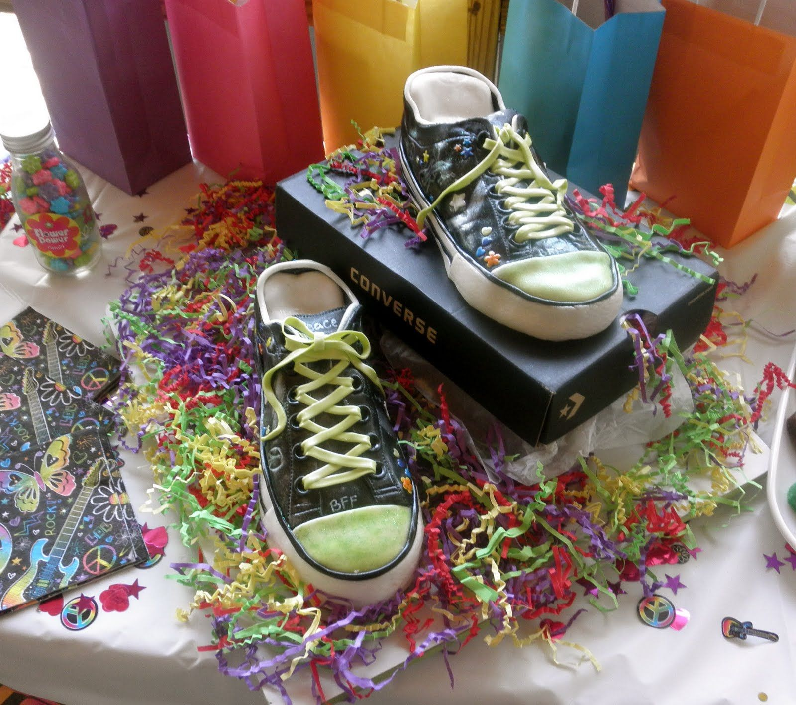neon cakes for teen girls Sweet Ts Cake Design Neon Doodle