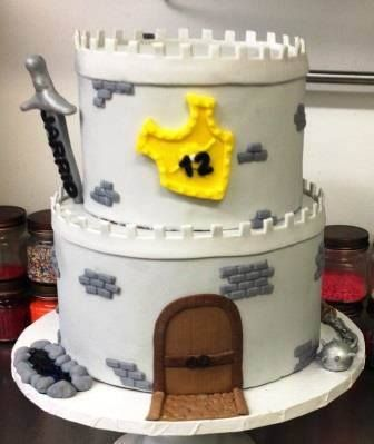 Tremendous Medieval Times Cake Boy Birthday Cake Funny Birthday Cards Online Overcheapnameinfo