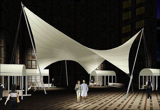 Fabric Shade Structures : Tension fabric and tensile membrane structures