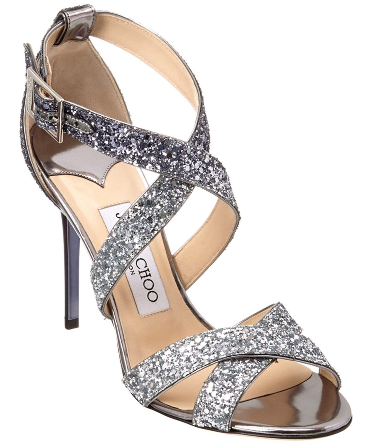 Jimmy Choo Lottie Coarse Glitter Degrade Sandal' In Metallic