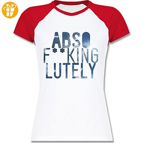 Statement Shirts - Absof**kinglutely Himmel - XXL - Weiß/Rot - L195